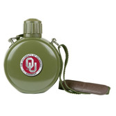 Oklahoma Sooners Colored Logo Canteen with Compass