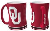 Oklahoma Sooners Coffee Mug - 15oz Sculpted