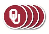 Oklahoma Sooners Coaster Set - 4 Pack