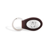 Oklahoma Sooners Brown Leather Key Chain