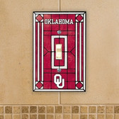 Oklahoma Sooners Art Glass Switch Cover