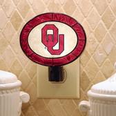 Oklahoma Sooners Art Glass Nightlight