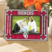 Oklahoma Sooners Art Glass Horizontal Picture Frame