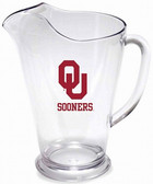 Oklahoma Sooners 64 oz. Crystal Clear Plastic Pitcher