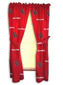 "Oklahoma Sooners 42"" x 63"" Curtain Panels"