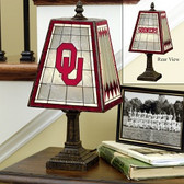 "Oklahoma Sooners 14"" Art Glass Table Lamp"