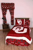 Oklahoma Bed in a Bag King - With Team Colored Sheets