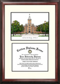 Ohio State University Scholar Framed Lithograph with Diploma