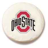 Ohio State Buckeyes White Tire Cover, Large