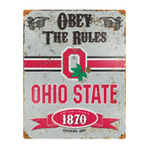 Ohio State Buckeyes Vintage Metal Sign