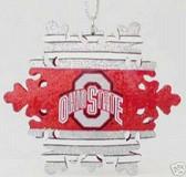 Ohio State Buckeyes Snowflake Ornament