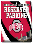 Ohio State Buckeyes Metal Parking Sign