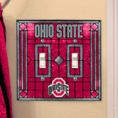 Ohio State Buckeyes Double Lightswitch Cover