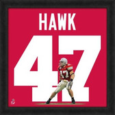 Ohio State Buckeyes A.J. Hawk 20X20 Framed Uniframe Jersey Photo