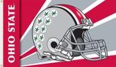 Ohio State Buckeyes 3 Ft. x 5 Ft. Flag w/Grommets - Helmet Design