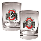 Ohio State Buckeyes 2pc Rocks Glass Set