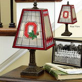 "Ohio State Buckeyes 14"" Art Glass Table Lamp"