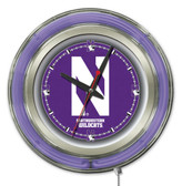 Northwestern Wildcats Neon Clock