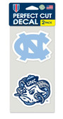 North Carolina Tar Heels Set of 2 Die Cut Decals