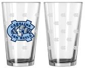 North Carolina Tar Heels Satin Etch Pint Glass Set