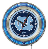 North Carolina Tar Heels Neon Clock