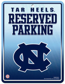 North Carolina Tar Heels Metal Parking Sign