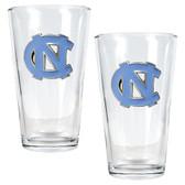 North Carolina Tar Heels 2pc Pint Ale Glass Set