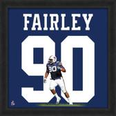 Nick Fairley Auburn Tigers 20  x 20 Framed Uniframe Jersey Photo