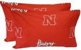 Nebraska Printed Pillow Case - (Set of 2) - Solid