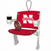 NEBRASKA ORNAMENT - STADIUM SEAT