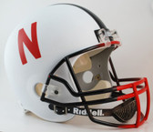 Nebraska Huskers Riddell Deluxe Replica Helmet - Alternate White