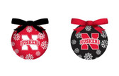 Nebraska Huskers LED Box Set Ornaments