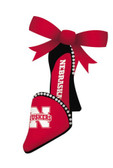 Nebraska Huskers High Heeled Shoe Ornament
