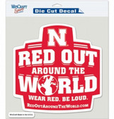 """Nebraska Huskers Die-Cut Decal - 8""""x8"""" Color Red Out"""