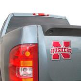 Nebraska Huskers Color Auto Emblem - Die Cut