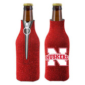 Nebraska Huskers Bottle Suit Holder - Glitter