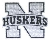 Nebraska Huskers Bling Auto Emblem