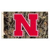 Nebraska Huskers 3'x5' Realtree Camo Flag - 2013 Logo
