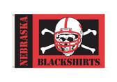 Nebraska Huskers 3'x5' Blackshirt Flag
