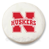 Nebraska Cornhuskers White Tire Cover, Small