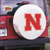 Nebraska Cornhuskers White Tire Cover, Large