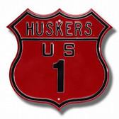 Nebraska Cornhuskers Route 1 Sign