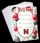 Nebraska Cornhuskers Party Invitations