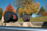 Nebraska Cornhuskers Headrest Covers Set Of 2