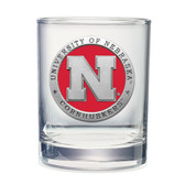 Nebraska Cornhuskers Double Old Fashioned Glass Set