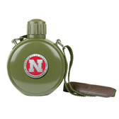 Nebraska Cornhuskers Colored Logo Canteen with Compass