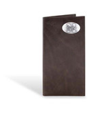 Nebraska Cornhuskers Brown Wrinkle Leather Long Roper Wallet