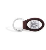 Nebraska Cornhuskers Brown Leather Key Chain