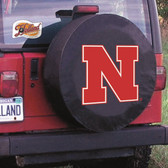 Nebraska Cornhuskers Black Tire Cover, Small