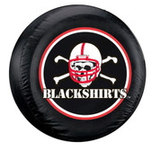 Nebraska Cornhuskers Black Spare Tire Cover - Blackshirts